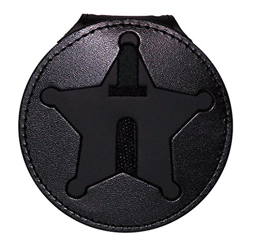 Perfect Fit Shield Wallets Florida Sheriff Five-Point Star Badge Holder (Black, Cutout PF185, 2.7 inches Tall)