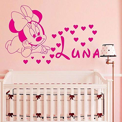 Personalidad ratón creativo pegatinas de pared arte decoraciones de pared decoración del hogar pegatinas de pared calcomanías de habitación para niños pegatinas de dormitorio