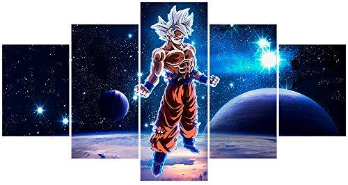 Hunbeauty art Póster de Dragon Ball Z y Super Poster Planet Goku Wall Art Manga Anime Lienzo impresiones sin marco