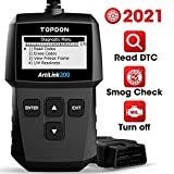 OBD2 Scanner TOPDON AL200 Car Code Reader, Read/Clear DTC, Turn-Off Check Engine Light, I/M Readiness, Smog Check, Freeze Frame, Vin Retrieval CAN Diagnostic Scan Tool