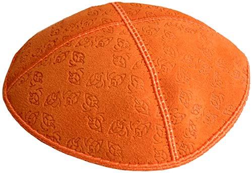 Rimmon Suede Kippah, Yarmulkes Originale con Logo Design of Dreydles, Idea Regalo per Chanukah