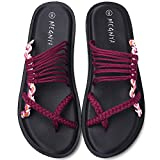 Yoga Mat Flip Flops for Women, Comfortable Foam Sandals for Walking, Flexible and Lightweight Slippers for Beach/Holiday/Poolside/Outdoor Activities 19ZDME05-W79-7-1