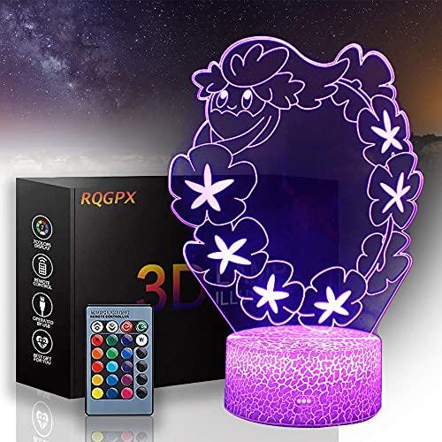 Lámparas LED 3D Comfey, 16 colores cambian lámpara de decoración, regalo perfecto para niños