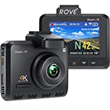 Rove Stealth-4K Pro Dash Cam - UHD 3840x2160P 8MP CMOS True 4K Dash Camera for Cars with Built-in WiFi and GPS, H.265, 24HR Parking Monitor, 512GB Max