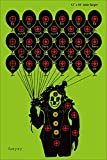 faxyxy Shooting Targets Clown Funny Paper Target 30 Pack Practice 12 x18 inch, Indoor/Outdoor/Range Shots Bright Fluorescent Green, Great for All Firearms, Airsoft, Pellet Guns