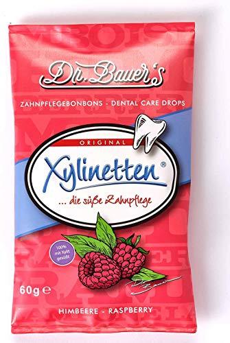 Dr. Bauer´s Xylinetten Xylitol Zahnpflege-Bonbons 60g Beutel Himbeere