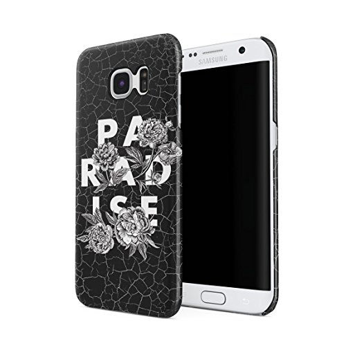 Tropical Paradise Black Onyx Marble Stone Print Hard Thin Plastic Phone Case Cover For Samsung Galaxy S7 Edge