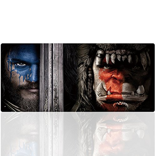 Beyme World of Warcraft Mauspad, 900 x 400 XXL Gaming Mauspad Große Mouse Mat Gel Anti Rutsch Matte für Computer, PC und Laptop