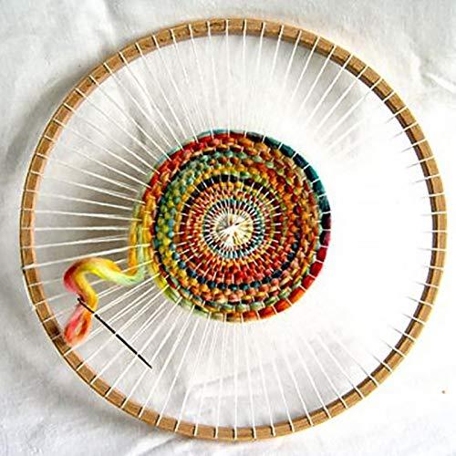 MOVKZACV Loom Knitting, Rotondo in Legno Handmade Tessitura Macchine Utensili Tessitura Telaio Fai Da Te Knitting Coaster, Appendenti Da Parete Ornamenti Arazzo Tessitura Sottobicchiere