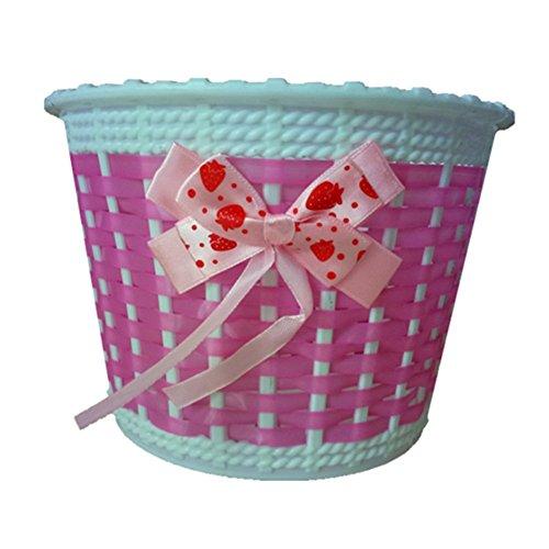 Westeng Fahrradkorb für Kinder, Blumendesign, Kunststoff, Pink 1PC