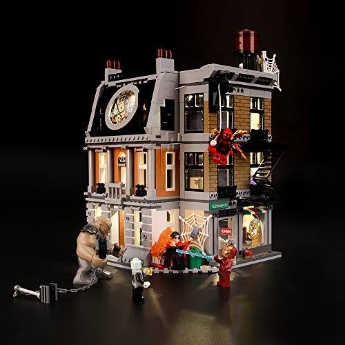 LIGHTAILING Set di Luci per (Super Heroes Avengers la Resa dei Conti al Sanctum Sanctorum) Modello da Costruire - Kit Luce LED Compatibile con Lego 76108 (Non Incluso nel Modello)