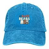 We Bare Bears Men's Baseball Cap Fashion Adjustable Dad Hat Unisex Hip-Hop Casquette Blue