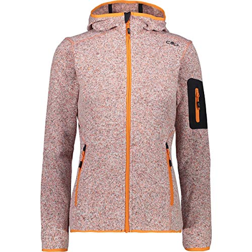 CMP Damen Strick Fleece Jacke 3h19826,orange(Orange),42