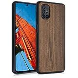 kwmobile Bumper Handyhülle kompatibel mit Samsung Galaxy M51 - Holz Hülle Handy Hülle Cover Dunkelbraun