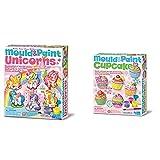 4M Moldea Y Pinta Unicornios, Multicolor (404708) + Great Gizmos Mould & Paint Cupcake