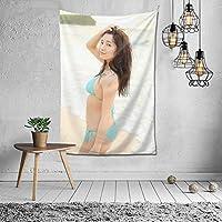 2021タペストリー 浅川 梨奈/あさかわ なな Asakawa Nanaファッションの絶妙な印刷リビングルームの入り口寝室の背景壁の装飾カスタマイズされた壁掛け布 (60 * 40inch)