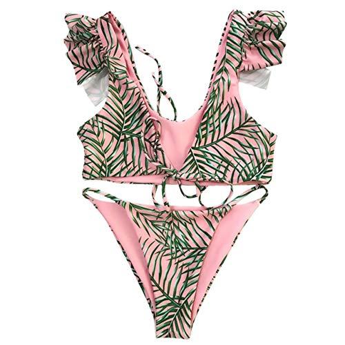 GUOZI Bikini Vrouwen Bikini Badmode Push-Up Print Bloemen Bikini Bodysuit aparte micro Beach bikini Strandkleding