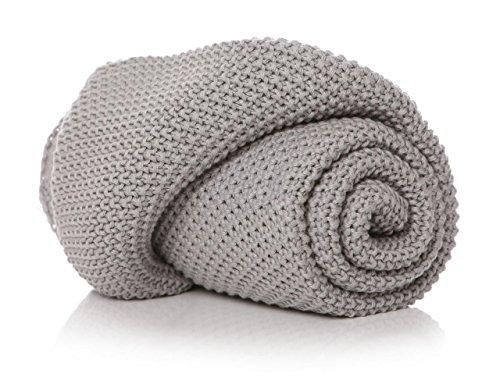 Shruti Designs Couverture pour bébé Motif point de mousse Gris