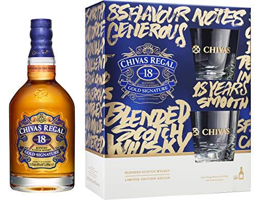 Chivas Regal 18 Jahre Geschenkset mit 2 Tumblern 0,7 Liter 40% Vol.