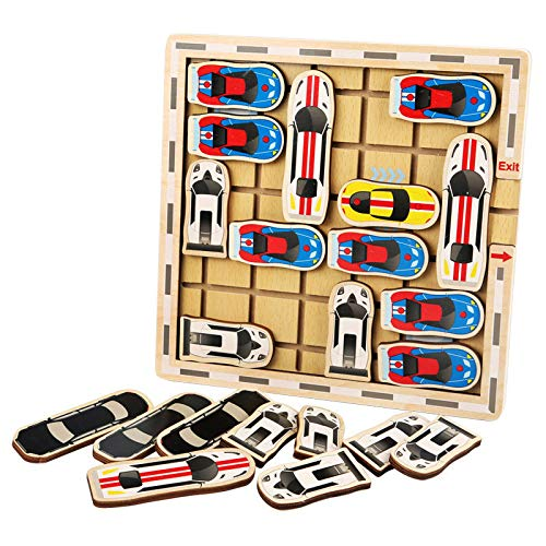 ZAU 2020 Wooden Maze Game Mobile Trolley Scene Home Educational Toys Gifts for Children Best Gift for Baby Children Family Pegged Puzzles Puzzle Accessories Puzzle Play Mats Sudoku Puzzles