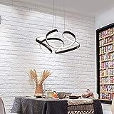 Lampadario Lampadari LED Dimmerabile Acrilico Moderna Lampade a Sospensione Regolabile in Altezza Placcato in Oro Rotondo Lampada a Sospensione Plafoniera, Sala da Pranzo/Camera da Letto/Soggiorno