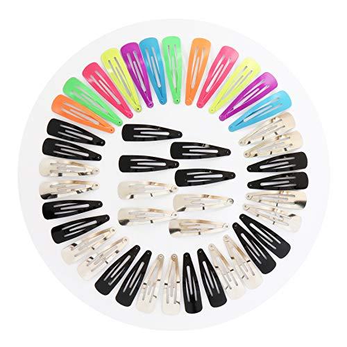 50 Pinzas Clips de pelo de metal para Niñas Mujeres 8 colores para diferentes ocasiones.