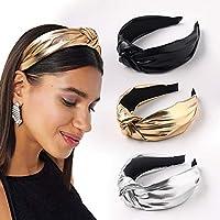 YANHAODiademas de pelo para mujer – Diadema de turbante ancha con nudos para el pelo, accesorio para el pelo para niñas y muj