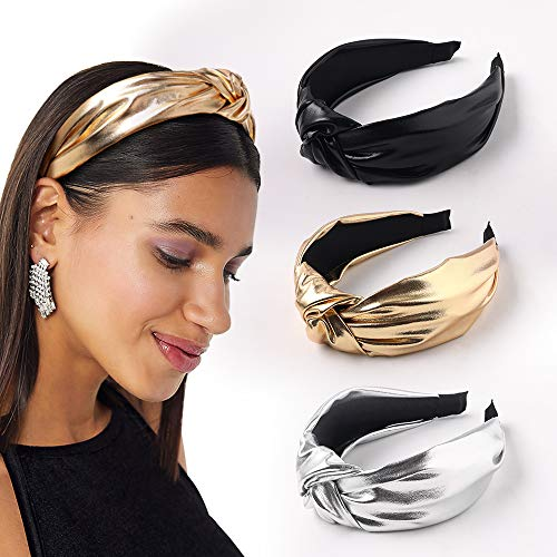 Headbands Women Hair Head Band- Knotted Wide Turban headband Fashion Cute Hairbands Hair Accessories for Girls and Women (YHHFG-017)
