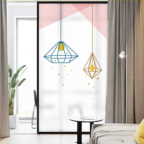 Djkaa Fashion schaduw glasvenster film voor woonkamer/slaapkamer/eetkamer mat dekkend privacy wooncultuur