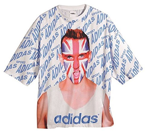 ADIDAS ORIGINALS JEREMY SCOTT dell'inghilterra by UK UNION JACK argento-nero over T-Shirt F50874 bianco