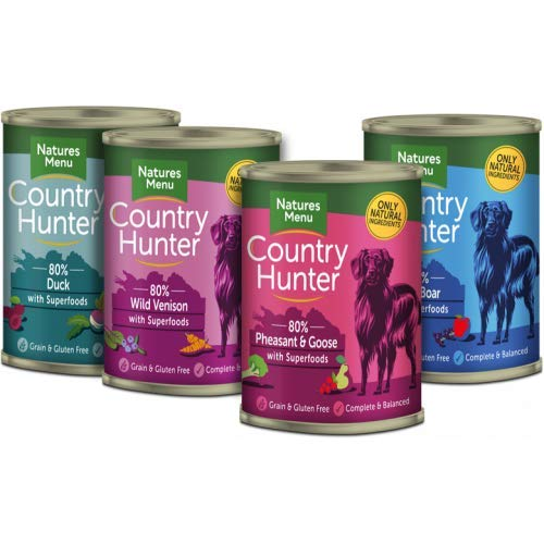 Natures Menu Country Hunter Game Meat Selection Wet Dog Food 400g X 12