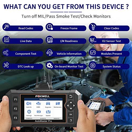FOXWELL NT614 Elite OBD2 Scanner, [2021 New Version] ABS SRS Engine Transmission Diagnostic Tool with Oil Light & EPB Reset, Check Light Engine Scanner, Airbag SRS Car Diagnostic Scanner for All Cars
