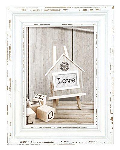 Zep S.r.l Rivoli White Holzbilderrahmen, Holz, Vintage Look, weiß, 20x 30 cm