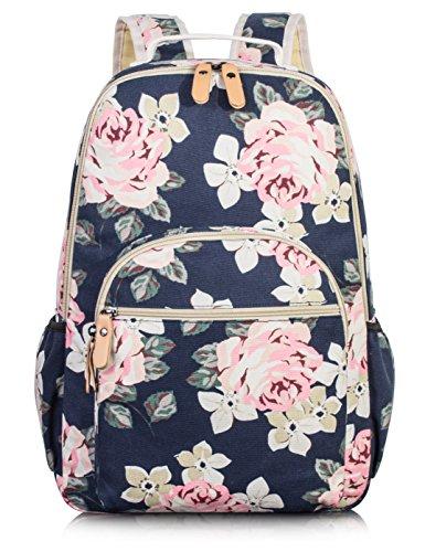 Leaper Big School Rucksack für Mädchen Reisetasche Bookbag Umhängetasche Dunkelblau