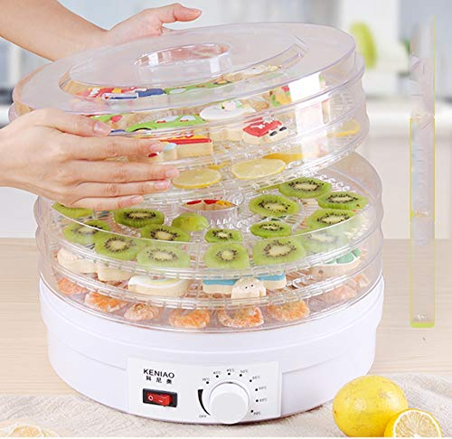 Best Price Food dryer 5 tray and thermostat preset temperature setting, 360° air circulation, fruit...