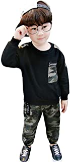 DRASAWEE(JP) セットアップ 子供服 長袖Tシャツ+ロングパンツ 2点セット 秋 キッズ ベビー 迷彩