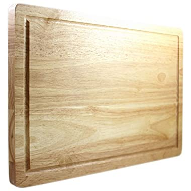 Latest Cutting Board - Lifetime Replacement Warranty - Best Rated Hardwood Chopping Block - Large 16x10 Inch Kitchen Tool - Stronger Than Plastic Ware Or Bamboo Appliances - Approved By Butchers