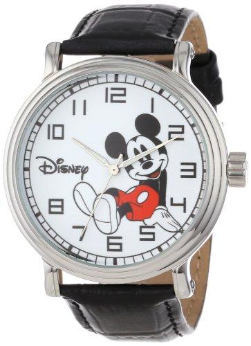 Disney Men's W000531 Reloj clásico con personaje Mickey Mouse