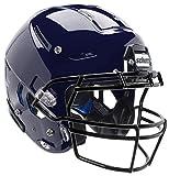 Schutt F7 VTD Adult Football Helmet - Includes Facemask & Chinstrap (Navy, X-Large)