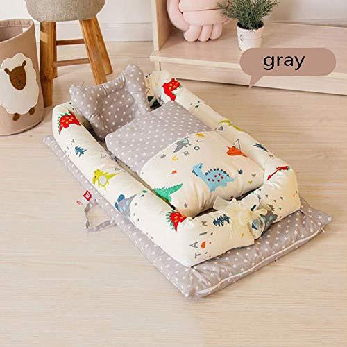 ZIXIANG Babywiege Fürs Bett Kaninchen-Baby-Liege Atmungsaktiv Hypoallergen Mitschlafendes Babybett 100% Baumwolle Tragbare Krippe (Color : T3)
