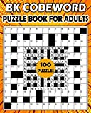 BK Codeword puzzle book for adults: Large print codebreaker puzzle book for adults & seniors - 100 Puzzle from (BK Bouchama)