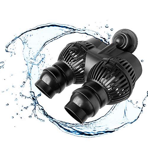 YAOBLUESEA Bomba de flujo de acuario Wave Maker, bomba de flujo, bomba de circulación plana para agua marina, 12000 l/h, 24 W, con imán de hierro
