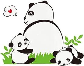 LMYLY 3D Wall Stickers Wall Decoration Cute Panda China Detachable Family Kindergarten Art Decal Home Decoration Wall Stickers