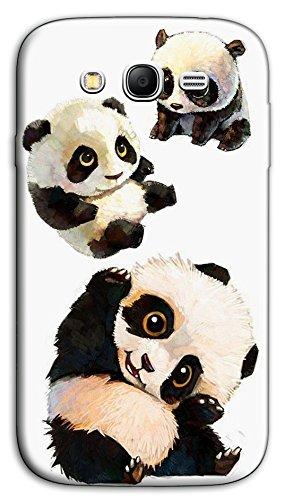 Mixroom - Cover Custodia Case in TPU Silicone Morbida per Samsung Galaxy Grand Neo I9060 (Plus) M488 Cuccioli di Panda