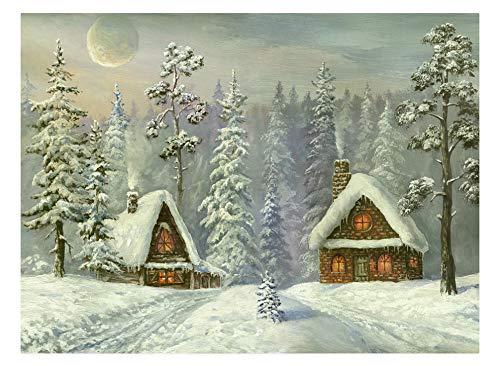 Puzzle 1000 Stück, Diy Holzspielzeug, einzigartiges Geschenk, Wohnkultur, Geschenk, alte Weihnachtskarte,75x50cm