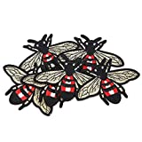 Parche bordado de 6 piezas con apliques de parche con forma de abeja linda para DIY Sombrero Jeans Ropa Accesorio Costura Decoración Parche