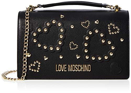 Love Moschino Jc4034pp1a, Borsa a Tracolla Donna, Nero (Nero), 9x16x27...