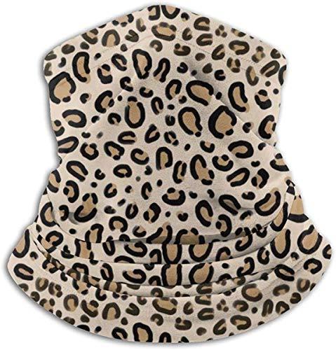 Best& Multifuncional Snood calentador al aire libre bufanda cuello pasamontañas para hombres y mujeres leopardo impresión marrón natural animal guepardo safari impresión