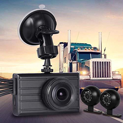 Vsysto Achteruitrijcamera (1080p + 2 x VGA) 3-kanaals met waterdichte lens voor vrachtwagen/aanhanger/tractor/transport/camper DVR-opnamesysteem met G-sensor