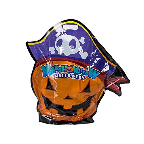 XJDMG Halloween Marshmallow Bag Small Candy Pumpkin Head Candy Cute Creative Horror Funny Gummy-Halloween Marshmallow 500g [About 50 Pieces] -  9874446504160